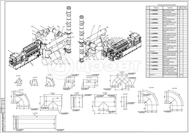 Пример проекта газохода котельной из нержавеющей стали